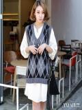学院风连衣裙长袖 3款学院风带你清新减龄做最年轻
