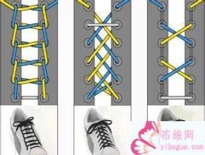 鞋带的24种系法图解大全 单手系法 十字交叉,鞋带的花样系法