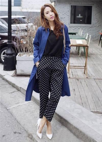 春季女士西装长裤搭配 帅气时尚干练OL气质